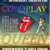 Tribute Day: Queen, Rolling Stones and Coldplay